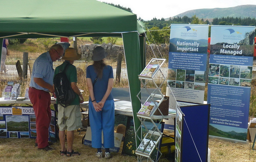 Friends of the Shropshire Hills AONB stand