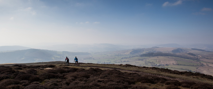 cycling across the Long Mynd