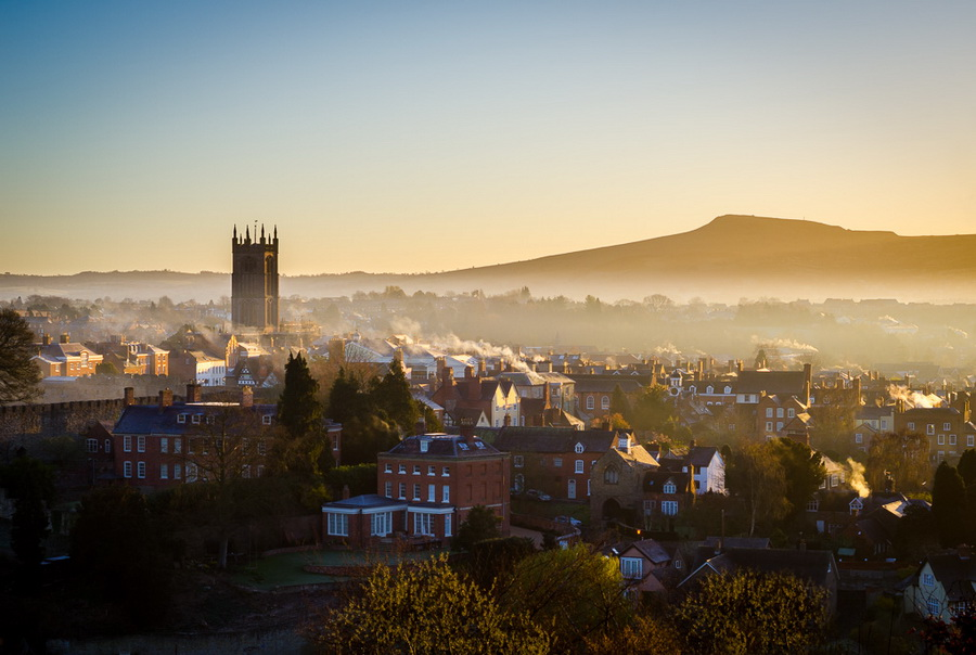 Photograph of Ludlow with Titterstone Clee in the distanceby Jordan Mansfield