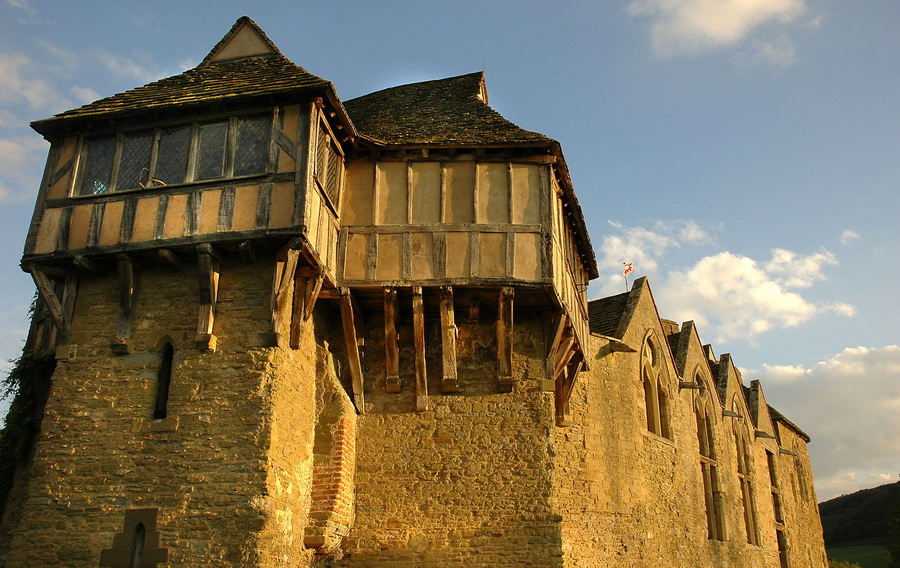 Stokesay Castle, fortified medieval manor house near Craven Arms