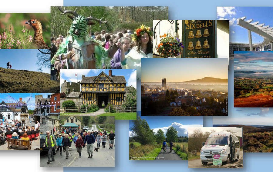 visitor activities in the Shropshire Hills