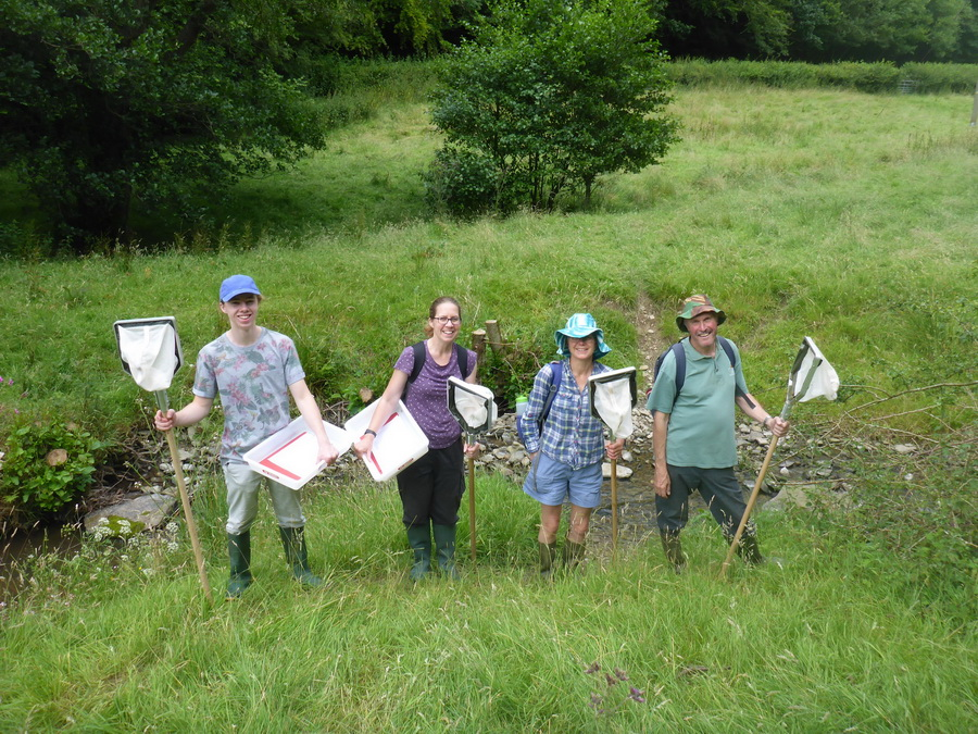 Volunteers helped us with Crayfish survey in the Clun Catchment