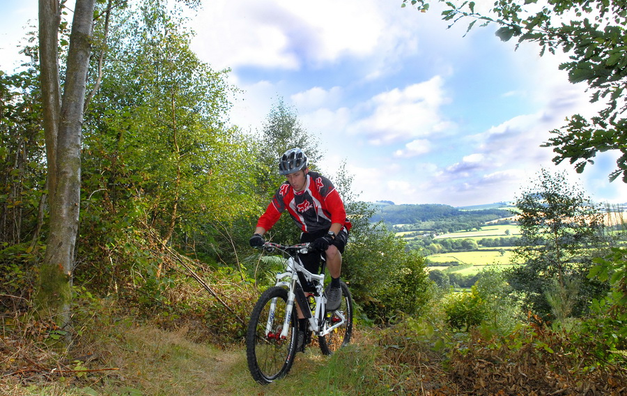 mountain biking at Eastridge Wood, Pontesbury