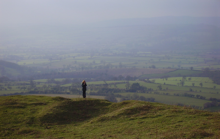 view from Brown Clee looking south