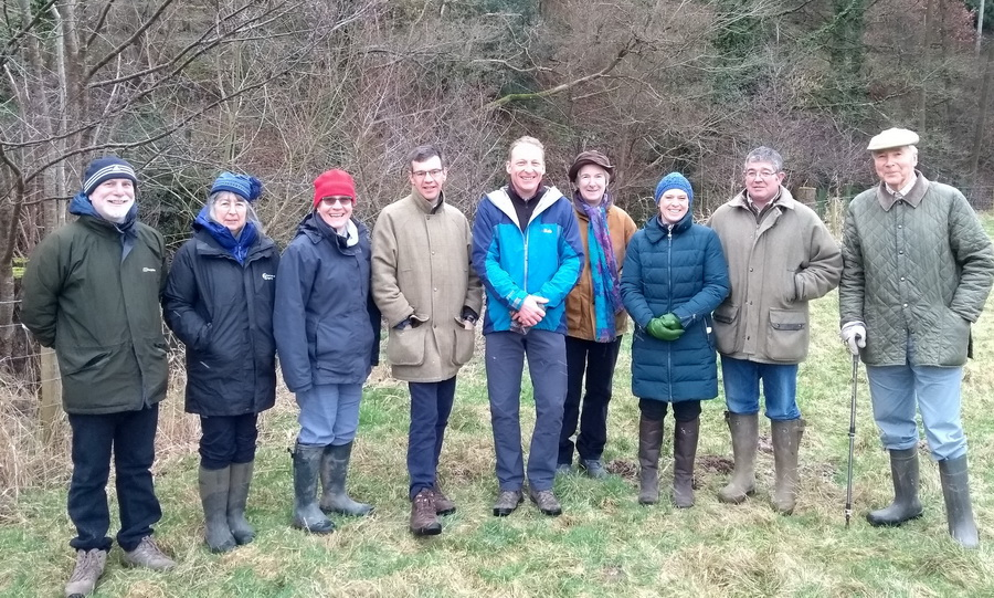 Julian Glover visits the Clun Catchment to dicuss issues